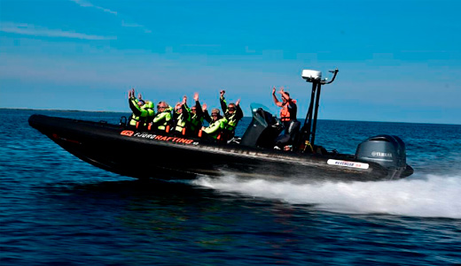 High speed rib tour on the fjord